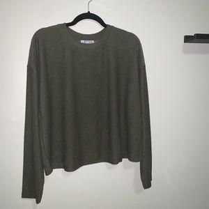 ZARA NWT olive green dolman sweater
